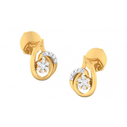 ARPANA DIAMOND STUDS EARRINGS in 18K Gold