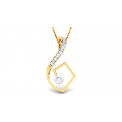 SARASI DIAMOND FASHION PENDANT in 18K Gold