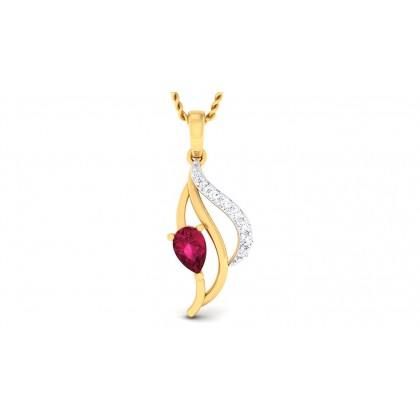 SAI DIAMOND FASHION PENDANT in Ruby & 18K Gold