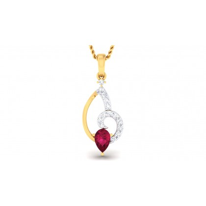 SAHIBA DIAMOND FASHION PENDANT in Ruby & 18K Gold