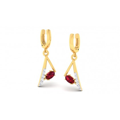 ALINA DIAMOND STUDS EARRINGS in 18K Gold