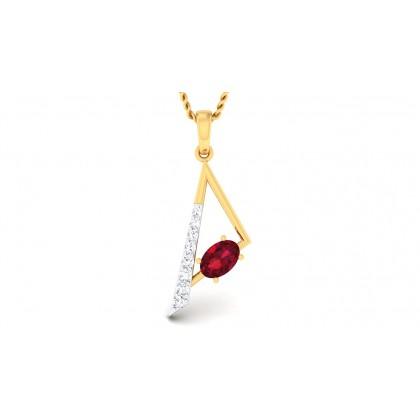 REYA DIAMOND FASHION PENDANT in 18K Gold