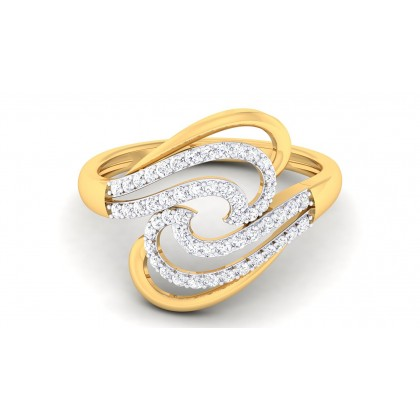 REVA DIAMOND COCKTAIL RING in 18K Gold