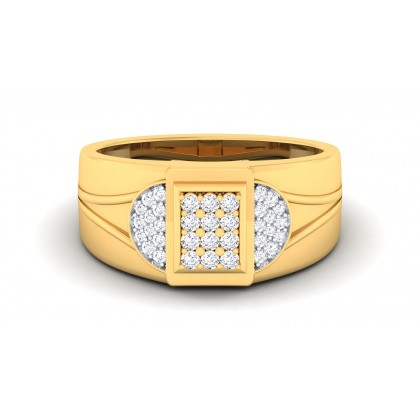 KUMUDA DIAMOND BANDS RING in 18K Gold