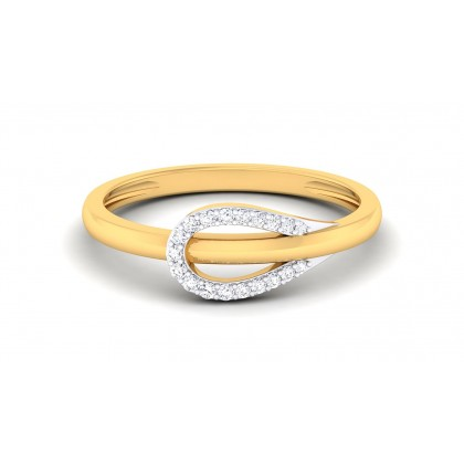 ALIA DIAMOND CASUAL RING in 18K Gold