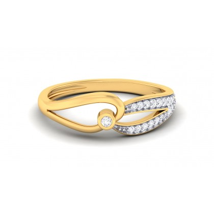 MEILANI DIAMOND CASUAL RING in 18K Gold