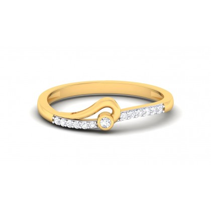TAPTI DIAMOND CASUAL RING in 18K Gold