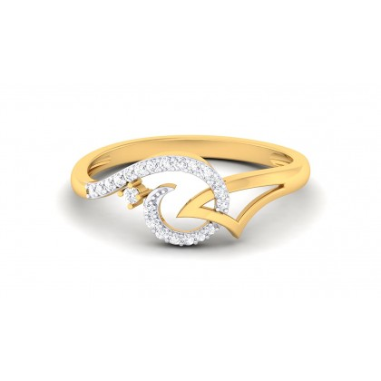 REBECA DIAMOND CASUAL RING in 18K Gold
