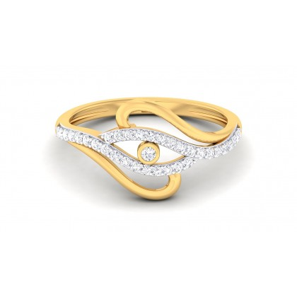 TRIVENI DIAMOND CASUAL RING in 18K Gold
