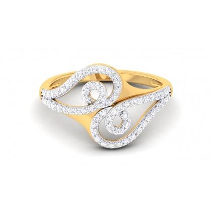 ADYA DIAMOND CASUAL RING in 18K Gold