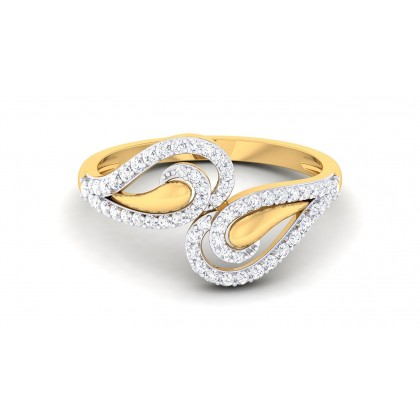 ANIYAH DIAMOND CASUAL RING in 18K Gold