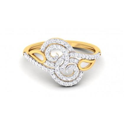 KAYLEN DIAMOND COCKTAIL RING in 18K Gold