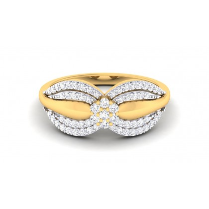 RITSIKA DIAMOND COCKTAIL RING in 18K Gold