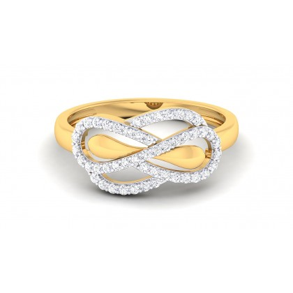 ZUHA DIAMOND CASUAL RING in 18K Gold