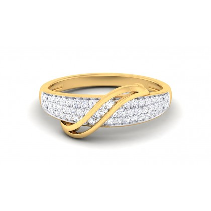 TARALA DIAMOND BANDS RING in 18K Gold