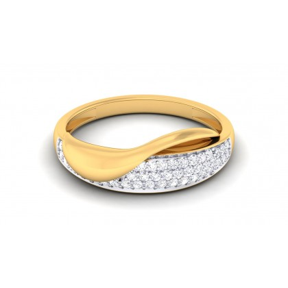 VANAJA DIAMOND BANDS RING in 18K Gold