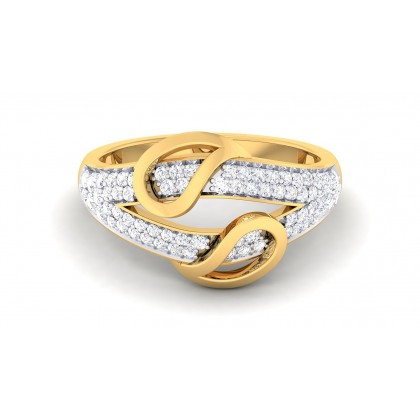 PAMELA DIAMOND BANDS RING in 18K Gold