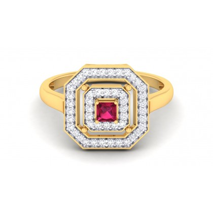 ABIGALE DIAMOND COCKTAIL RING in 18K Gold