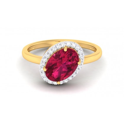 AZARIA DIAMOND COCKTAIL RING in Ruby & 18K Gold
