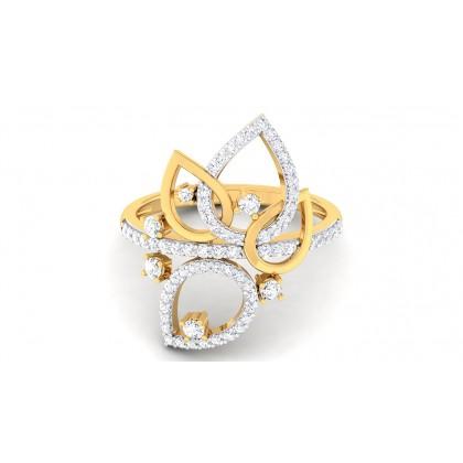 SELENA DIAMOND COCKTAIL RING in 18K Gold