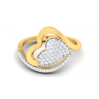 ELISHA DIAMOND COCKTAIL RING in 18K Gold