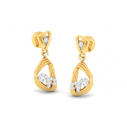 ALYSA DIAMOND DROPS EARRINGS in 18K Gold