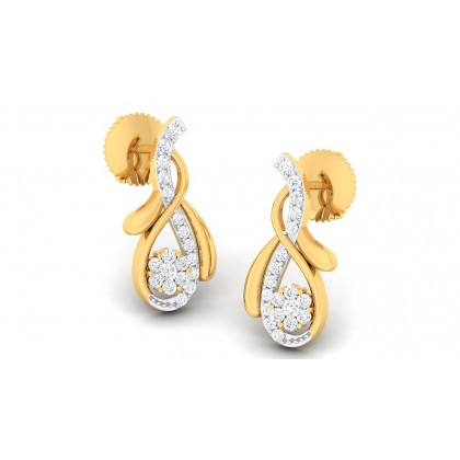 TAPI DIAMOND STUDS EARRINGS in 18K Gold