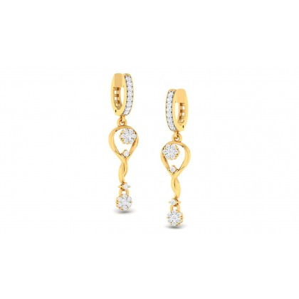 NITYA DIAMOND DROPS EARRINGS in 18K Gold