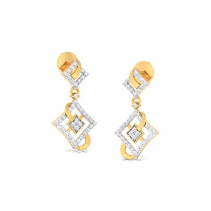 VASUDHA DIAMOND DROPS EARRINGS in 18K Gold