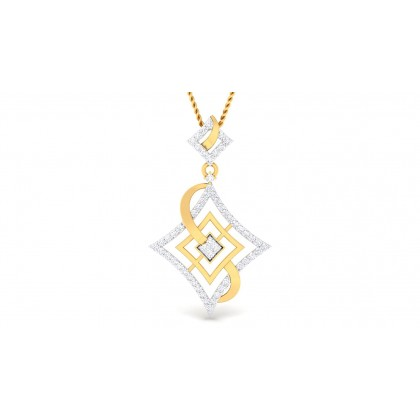 BAHULA DIAMOND FASHION PENDANT in 18K Gold