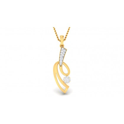 SAURA DIAMOND FASHION PENDANT in 18K Gold