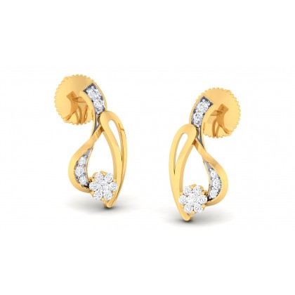 MUKUNDA DIAMOND STUDS EARRINGS in 18K Gold