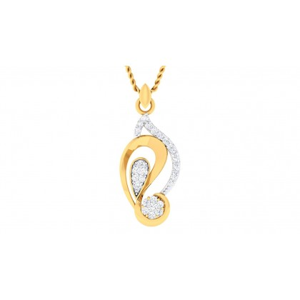 TERESA DIAMOND FASHION PENDANT in 18K Gold