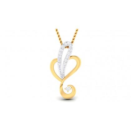 VARYA DIAMOND HEARTS PENDANT in 18K Gold