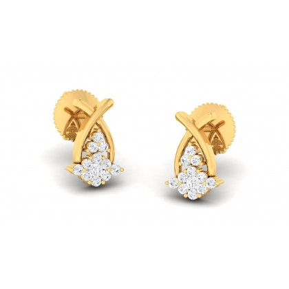BARSHA DIAMOND STUDS EARRINGS in 18K Gold