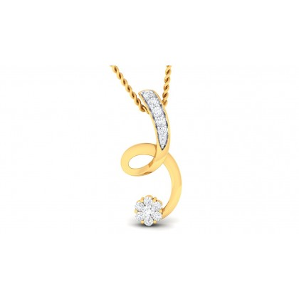 MADHURI DIAMOND FASHION PENDANT in 18K Gold