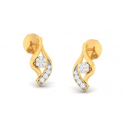 VIPULA DIAMOND STUDS EARRINGS in 18K Gold