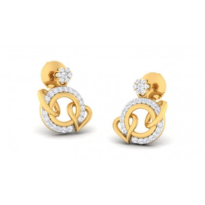 GOMTI DIAMOND STUDS EARRINGS in 18K Gold