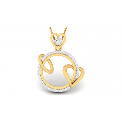 AYSHA DIAMOND HEARTS PENDANT in 18K Gold