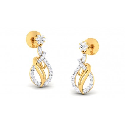 NIYAH DIAMOND DROPS EARRINGS in 18K Gold