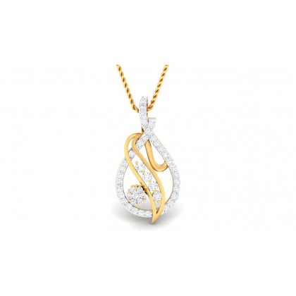 PUSTI DIAMOND FASHION PENDANT in 18K Gold