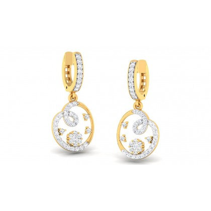 ASHMI DIAMOND DROPS EARRINGS in 18K Gold