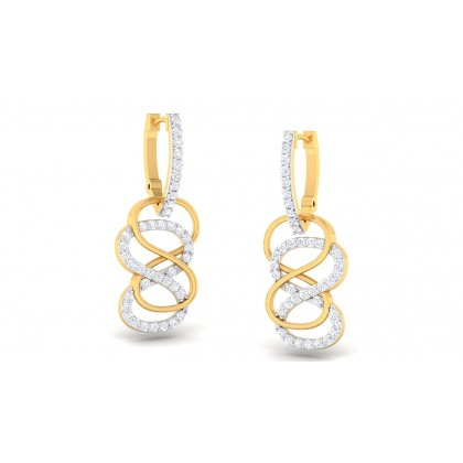 CALIYAH DIAMOND DROPS EARRINGS in 18K Gold