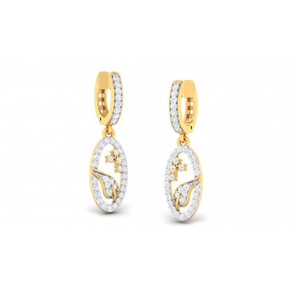 SAHIBA DIAMOND DROPS EARRINGS in 18K Gold