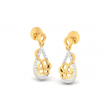 LAYLA DIAMOND DROPS EARRINGS in 18K Gold