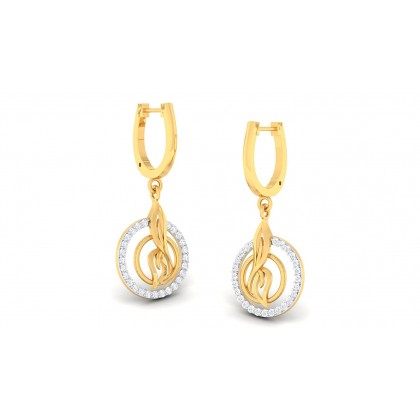SHIVIKA DIAMOND DROPS EARRINGS in 18K Gold