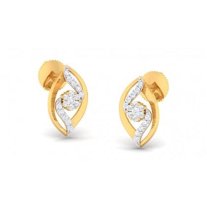 TYLER DIAMOND STUDS EARRINGS in 18K Gold