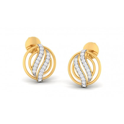 CHAKORI DIAMOND STUDS EARRINGS in 18K Gold