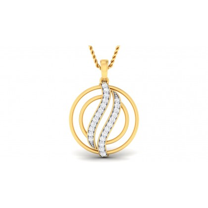 PUNARVI DIAMOND FASHION PENDANT in 18K Gold