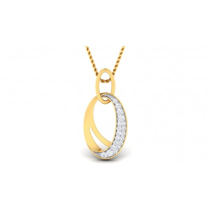 KOMAL DIAMOND FASHION PENDANT in 18K Gold